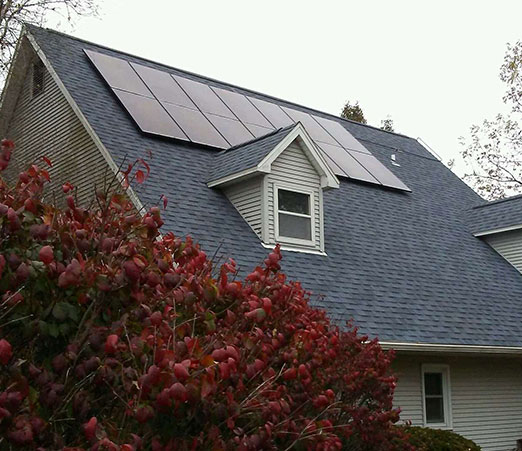 house with solar panels installed by Solar Power Midwest